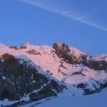 Le soleil se lève sur le glacier de Séguret Foran