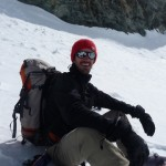 Crétin des alpes sous le col de Roche Faurio