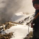 Rémy à l'attaque de la descente du Pic du Glacier Blanc