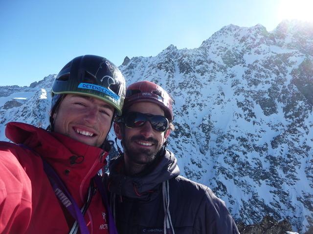 Sylvain Audibert et Nicolas Draperi au sommet de la Marguerite Défouraillée