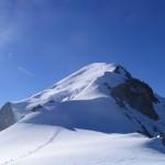 L'arête des Bosses au Mont Blanc