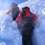 Trace profonde sur la voie normale du Mont Blanc
