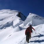 Sur l'arête des Bosses en direction du Mont Blanc
