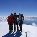 Photo de l'équipée au sommet du Mont blanc
