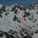 Itinéraire de montée à la pointe Cezanne