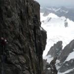 Dans le rampe glacée du Pilier Gervasutti