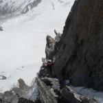Dans la rampe glacée du Pilier Gervasutti