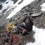 Sieste au bivouac du glacier Carré, Meije, grand Pic