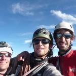 L'équipe au sommet du Grand Pic de la Meije