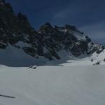 Vue sur le haut du glacier Noir - Ailefroides, Pic sans nom