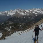 Montée à ski à Peyre - Eyraute