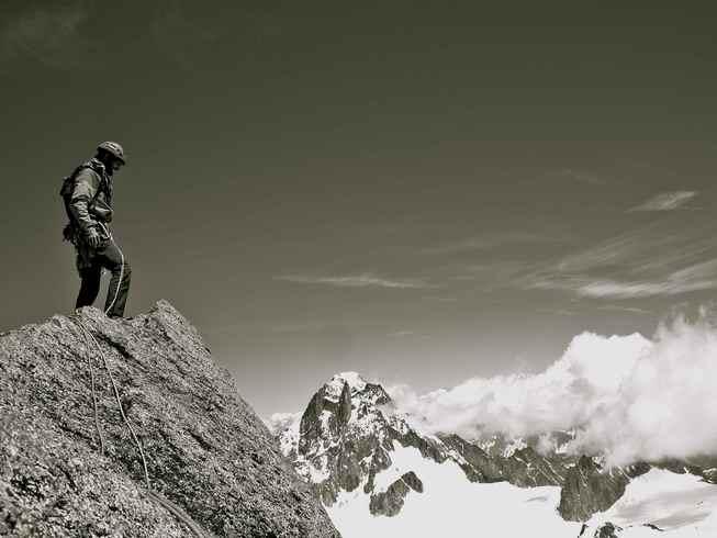 Au sommet du Grand Capucin
