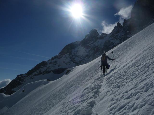 Col Claire à ski