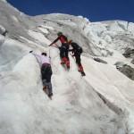 Ecole glace - Glacier Blanc - A l'attaque!