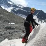 Ecole glace - Glacier Blanc - Emmanuelle, tout sourire!