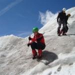 Ecole glace - Glacier Blanc - Le planté de piolet!