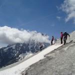 Ecole glace - Glacier Blanc - Premiers pas sur fond de Pelvoux
