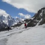 Ecole de glace - Glacier Blanc - Et le Pelvoux toujours là!