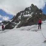 Ecole de glace - Glacier Blanc - Sur le plateau glaciaire