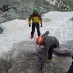 Ecole glace - Glacier Blanc - Séance mouflage