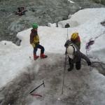 Ecole glace - Glacier Blanc - Mais heureusement qu'en surface les filles assurent!