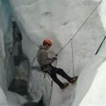 Ecole de glace - Glacier Blanc - Autosauvetage crevasse