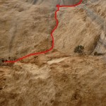 Itinéraire vue du pied