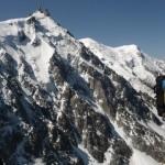 La face N de l'Aiguille du Midi