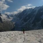 Mont Tondu - Redescente de la voie normale