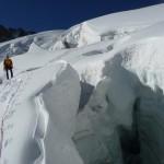 Traversée du Pelvoux - Vers 3450m, quelques jolis trous