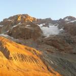 Tour des Ailefroides - Col du Sélé - Notre star, l'Ailefroide, s'illumine