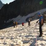 Tour des Ailefroides - Col du Sélé - Visite de crevasse