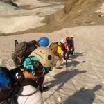 Tour des Ailefroides - Col du Sélé - Un petit névé pour la forme
