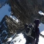 Roche Paillon - En route pour notre traversée d'arête mixte