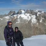 Roche Paillon - Mes deux tourtereaux devant la grande Ruine