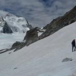 Roche Paillon - Dans les pentes qui nous ramène au Glacier Blanc