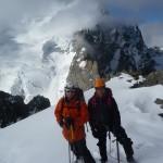 Roche Faurio - Les deux comparses devant le Dôme, objectif du lendemain