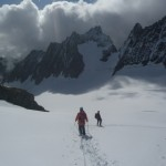 Roche Faurio - retour sur le glacier