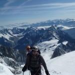Mont Blanc par les Trois Monts - A quelques encablures du sommet, dans le mur de côte