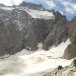 Tour des Ailefroides - Col de la Temple - Sur le Glacier Noir