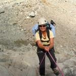 Tour des Ailefroides - Col de la Temple - Valéry apprécie