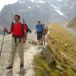 Tour des Ailefroides - Col de la Temple - Et le final, en suspension sur cette belle moraine