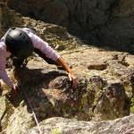 Graine de Cezanne - Isabelle à la sortie de la section raide