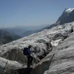 Glacier Blanc - En montant au refuge des Ecrins