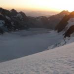 Dôme des Ecrins - Premier lever de soleil