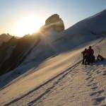 Dôme des Ecrins - Troisième levé de soleil sur Barre noire