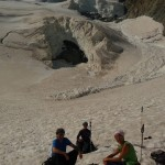 Dôme des Ecrins - La chute de sérac du Dôme