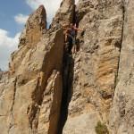 Crête du raisin - Un viking dans la roche