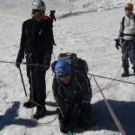 Dôme Ecrins - Pas facile à gérer cette corde!