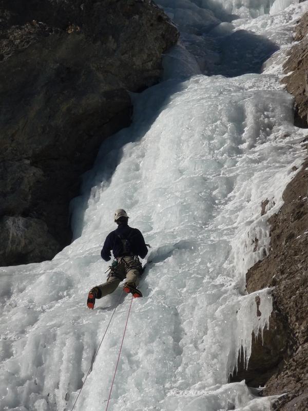 Guide - cascade de glace - Draperies